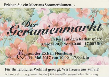 Geranienmarkt Kiel und Flensburg